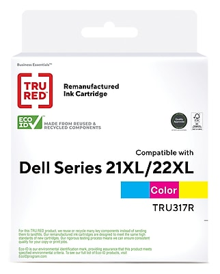 Imaging Supplies Plus Remanufactured Dell Series 21XL//22XL Tri-Color High Yield Ink Cartridge
