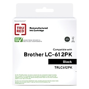 TRU RED™ Remanufactured Black Standard Yield Ink Cartridge Replacement for Brother LC-61BK (LC61BK), 2/Pack