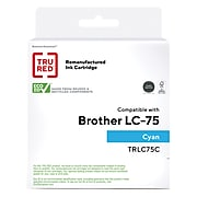 TRU RED™ Remanufactured Cyan High Yield Ink Cartridge Replacement for Brother LC75C (LC75C)