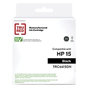 TRU RED™ Remanufactured Black Standard Yield Ink Cartridge Replacement for HP 15 (C6615DN)