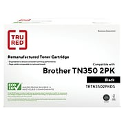 TRU RED™ Remanufactured Black Standard Yield Toner Cartridge Replacement for Brother TN350 (TN-350), 2/Pack