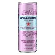 S.Pellegrino Essenza Dark Morello Cherry & Pomegranate Flavored Mineral Water, 11.15 fl oz. Cans (8 Count)