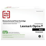 TRU RED™ Remanufactured Black High Yield Toner Cartridge Replacement for Lexmark (12A5845)
