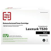 TRU RED™ Remanufactured Black High Yield Toner Cartridge Replacement for Lexmark (12A6835)
