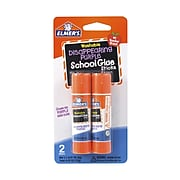 Elmer's School Permanent Glue Sticks, 0.21 oz., Disappearing Purple, 2/Pack (E522)