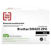 TRU RED™ Remanufactured Black Standard Yield Drum Unit Replacement for Brother DR420 (DR-420), 2/Pack
