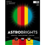 "Astrobrights Primary Cardstock Paper, 8.5"" x 11"", 65 lb/176 gsm, Assorted Colors, 50 Sheets (99325-2)"