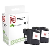 TRU RED™ Remanufactured Black High Yield Ink Cartridge Replacement for Brother LC103BK (LC1032PKS), 2/Pack