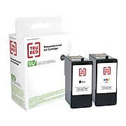 TRU RED™ Remanufactured Black/Color Standard Yield Ink Cartridge Replacement for Lexmark 32/33 (180C532), 2/Pack