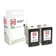 TRU RED™ Remanufactured Black Standard Yield Ink Cartridge Replacement for HP 63 (T0A53AN), 2/Pack