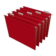 TRU RED™ Hanging File Folder, 5-Tab, Letter Size, Red, 25/Box (TR163535)