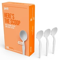 Deals on 100-Pack Perk Plastic Soup Spoon Heavy-Weight PK56404
