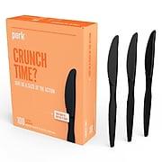 Perk™ Polystyrene Knife, Heavy-Weight, Black, 100/Pack (PK56393)