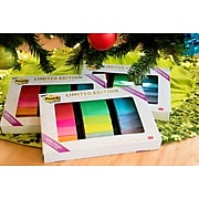 """Post-it® Super Sticky Notes Limited Edition Pack, Assorted Colors, 3"""" x 3"""", 15 Pads/Pack, 45 Sheets/Pad (654-15SSALL)"""