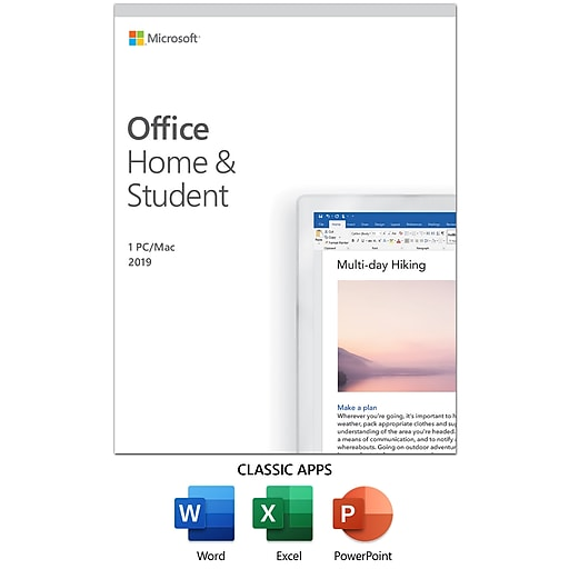 Shop Staples for 2019 Microsoft Office Home and Student, 1 ...