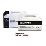 """Coastwide Professional™ Toilet Seat Covers, 0.87"""" x 10.43"""", 250/Pack, 10 Packs/Carton (CW24776)"""