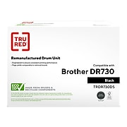 TRU RED™ Remanufactured Black Standard Yield Drum Unit Replacement for Brother DR730 (DR730)