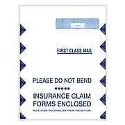 "ComplyRight CMS-1500 Self Seal Document Envelopes, 12 1/2"" x 9"", White/Blue, 100/Box (1500LR)"