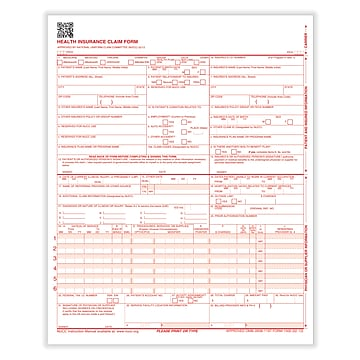 ComplyRight CMS-1500 Health Insurance Claim Form (02/12), 1000/Carton (CMS12LC1)