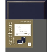 Southworth Certificate Jackets, Navy, 5/Pack (PF6)