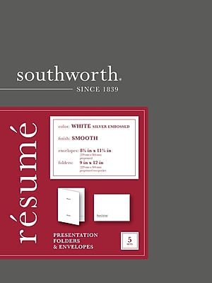 shop staples for southworth u00ae resume folder and envelope  9