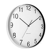 "Union & Scale™ Essentials Wall Clock, Aluminum, 12"" (UN57796)"