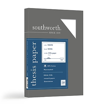 """Southworth Thesis Paper, 8.5"""" x 11"""", Wove Finish, Bright White, 250/Pack (35-120-10)"""