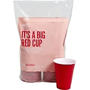 Perk™ Plastic Cold Cup, 16 Oz., Red, 50/Pack (PK54359)