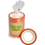 Perk™ Heavy-Weight Paper Bowl, 12 oz., White/Orange, 125/Pack (PK54332)