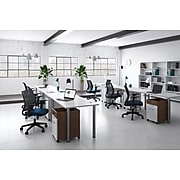"""Union & Scale™ Essentials 60"""" Powered Computer and Writing Desk, White (UN56971)"""