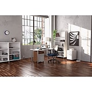 "Union & Scale™ Essentials 3-Drawer Vertical File Cabinet, Mobile/Pedestal, Letter/Legal, White, 21"" (UN56980)"