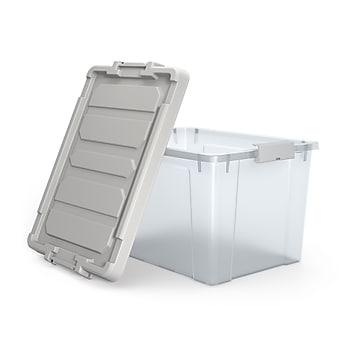 TRU RED™ 20 Qt. Latch Lid Storage Bin, Clear (TR58305)