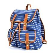 Pep Rally Vintage Backpack, Stripes, Blue (58791)