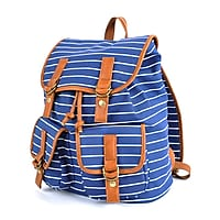 Pep Rally Vintage Backpack (Stripes Blue, 58791)