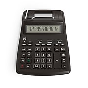 TRU RED™ TR44780 12-Digit Desktop Printing Calculator, Black