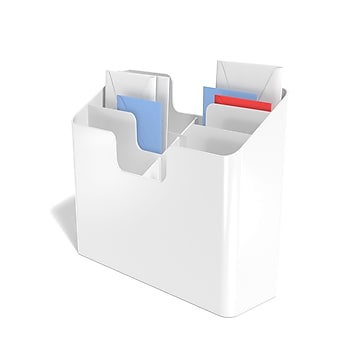 TRU RED™ 3-Way Incline Vertical Sorter Six Pocket Plastic Wall File, White (TR58199)