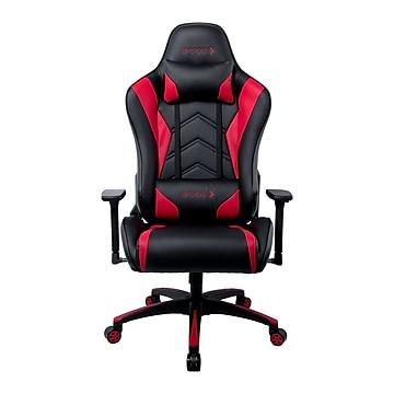 Staples Emerge Vartan Bonded Leather Gaming Chair, Red/Black (53241)