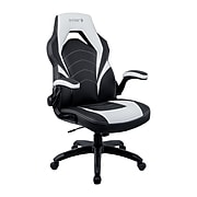 Staples Emerge Vortex Bonded Leather Gaming Chair, Black and White (55172)