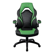 Staples Emerge Vortex Bonded Leather Gaming Chair, Black and Green (52504)