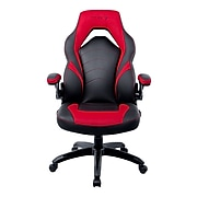 Staples Emerge Vortex Bonded Leather Gaming Chair, Black and Red (51465-CC)