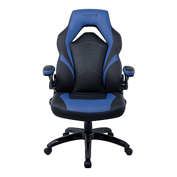 Staples Emerge Vortex Bonded Leather Gaming Chair, Black and Blue (51464-CC)