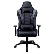 Staples Emerge Vartan Bonded Leather Gaming Chair, Purple/Black (59259)