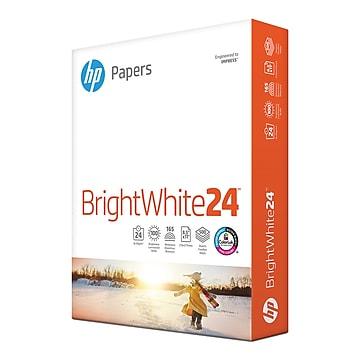 "HP BrightWhite24 8.5"" x 11"" Color Copy Paper, 24 lbs., 100 Brightness, 500/Ream (HPB1124)"