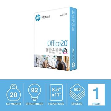 "HP Office20 8.5"" x 11"" Multipurpose Paper, 20 lbs., 92 Brightness, 500/Ream (HPC8511)"