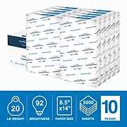 "Hammermill Copy Plus 8.5"" x 14"" Copy Paper, 20 lbs., 92 Brightness, 500/Ream, 10 Reams/Carton (105015)"