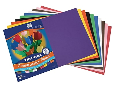 "12x18/"", Tru-Ray Super Heavyweight Fade-Resistant Sulphite Construction Paper"