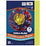 """Tru-Ray 9"""" x 12"""" Construction Paper, Brilliant Lime, 50 Sheets (P103423)"""