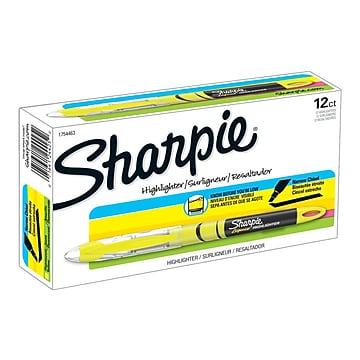 Sharpie Liquid Highlighters, Chisel, Yellow, Dozen (1754463)