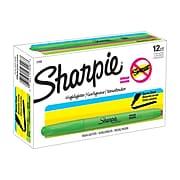 Sharpie Pocket Stick Highlighter, Chisel Tip, Fluorescent Green, Dozen (27026)