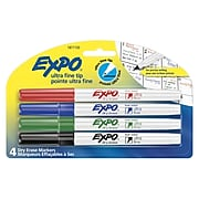 Expo Dry Erase Markers, Ultra Fine Point, Assorted, 4/Pack (1871133)